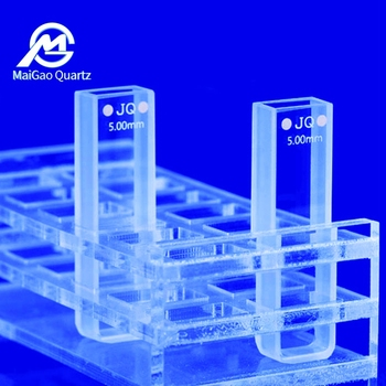 Lab Glassware Quartz cuvette for spectrometer support customized 2pcs jgs1 melt quartz cuvette with lids 2mm spectrometer cell cuvette sided translucent with ptfe lid with box package