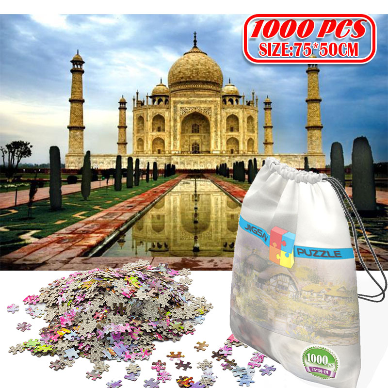 3D Paper Jigsaw Puzzle 1000 Pieces Wooden Toys Puzzles For Adults Educational Toys Decoration Stickers  India Taj Mahal