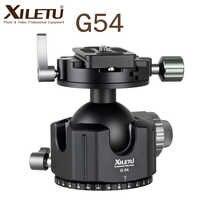 XILETU G-54 Tripod Ball Head 360 Degree Double Panoramic Photography Aluminum Ballhead Heavy Duty With Quick Release Plate