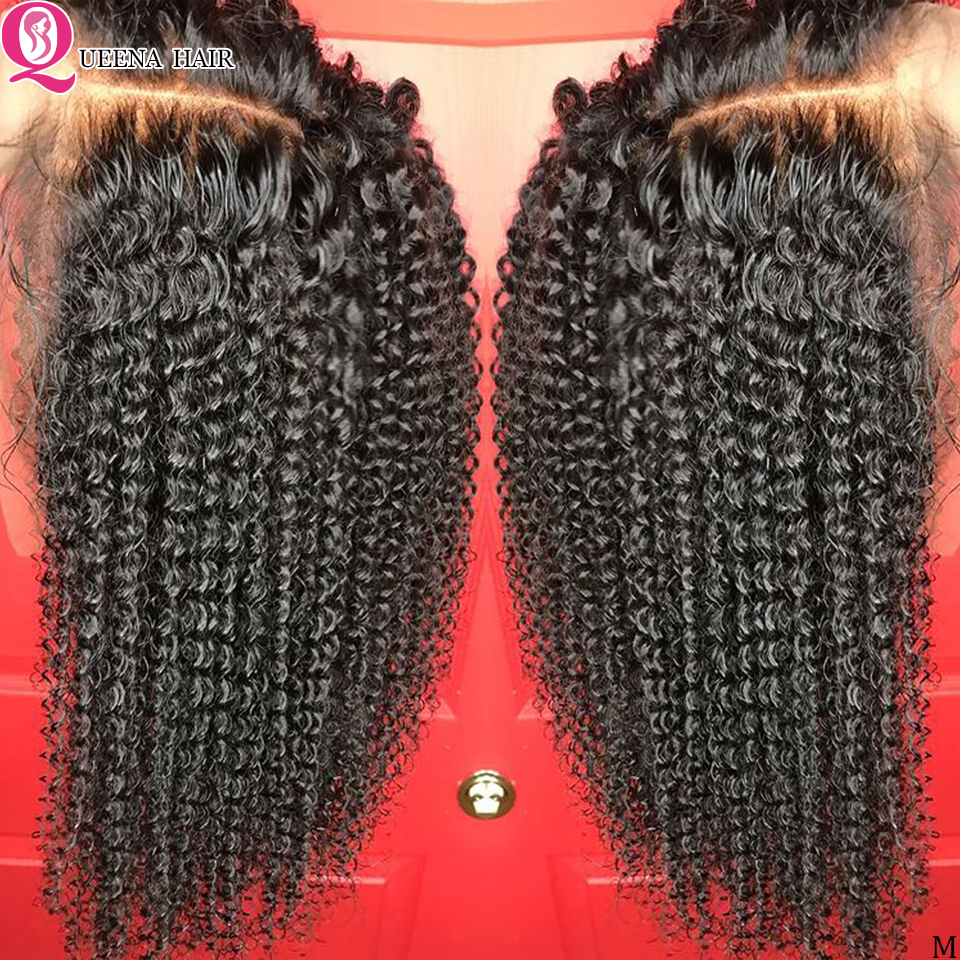 Peruvian Kinky Curly Lace Front Human Hair Wigs For Black Women 13x6/360 Transparent Lace Wig Pre Plucked Hairline 150% Remy