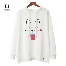 100%Cotton Women's Hoodie Oversized Solid Sweatsuit for Studengts Hoodies Terry Tops High Quality hoodies Women Aesthetic