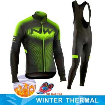Inverno velo térmico 2020 northwave ciclismo jérsei longo conjunto mtb ciclo roupas roupas de ciclismo roupas de bicicleta montanha ropa ciclismo 1