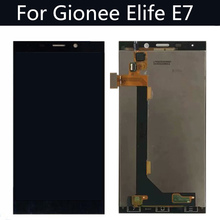 цена на Gionee Elife E7 LCD Display + Touch Screen Digitizer 100% New Original Glass Gionee E7  Free Shipping