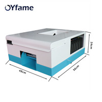 OYfame New automatic pvc card printer for 86mm*54mm 70mm*100mm 80mm*110mm 102mm*148mm inkjet PVC Business Card Machine