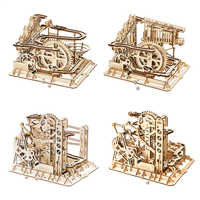 Robotime Marble Run Maze Balls Track Toys Wooden Model Building Kits For Children Adults