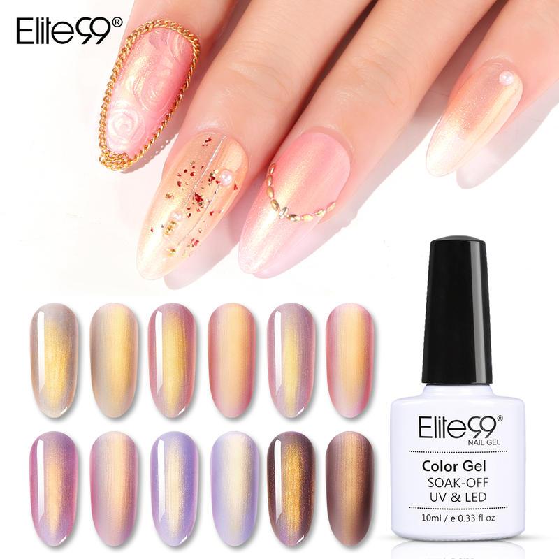 Elite99 10 мл Гель-лак для ногтей с розовым золотом и русалочкой Блестящий матовый эффект отмачиваемый УФ светодиодный светильник верхнее Базов...