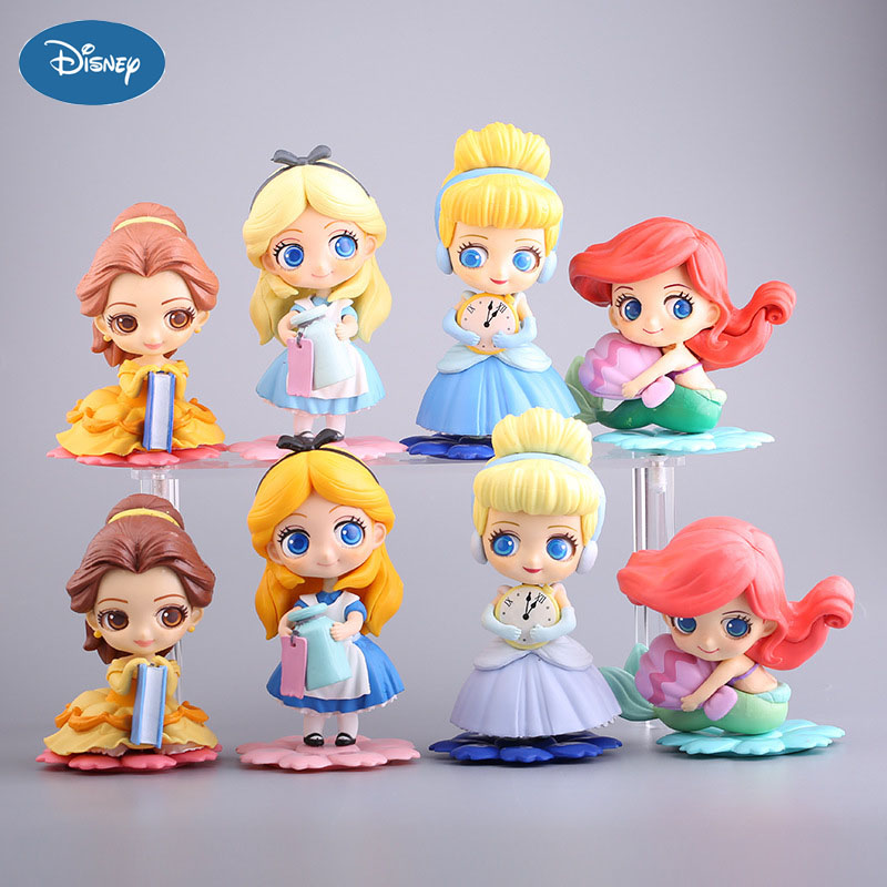 Disney Princess Model Alice Anime Figure Collection Doll Decoration Figurine Toys for Girls Adult Children's Birthday Gifts