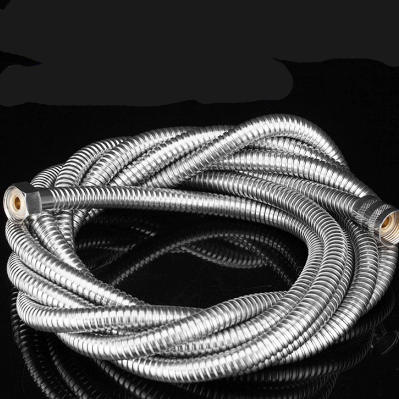 1.5/2/3/4/5m Shower Pipes Tube Fitting Bathroom Accessories Shower Hose Holder Water Pipe For Bath Stainless Steel Shower Hose