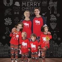 Рождественский пижамный комплект для всей семьи, теплые пижамы для взрослых и детей, хлопковый детский комбинезон, одежда для сна, рождественские Семейные комплекты