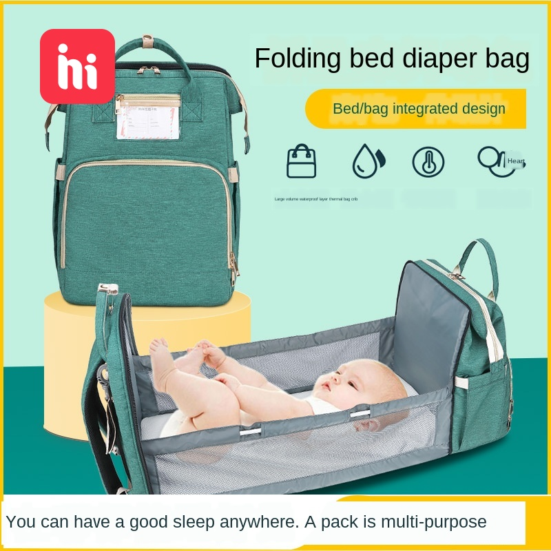New Portable Folding Crib Mommy Bag Multifunctional Large Capacity Mother And Baby Bag Portable Shoulder Mommy Bag Bag Baby