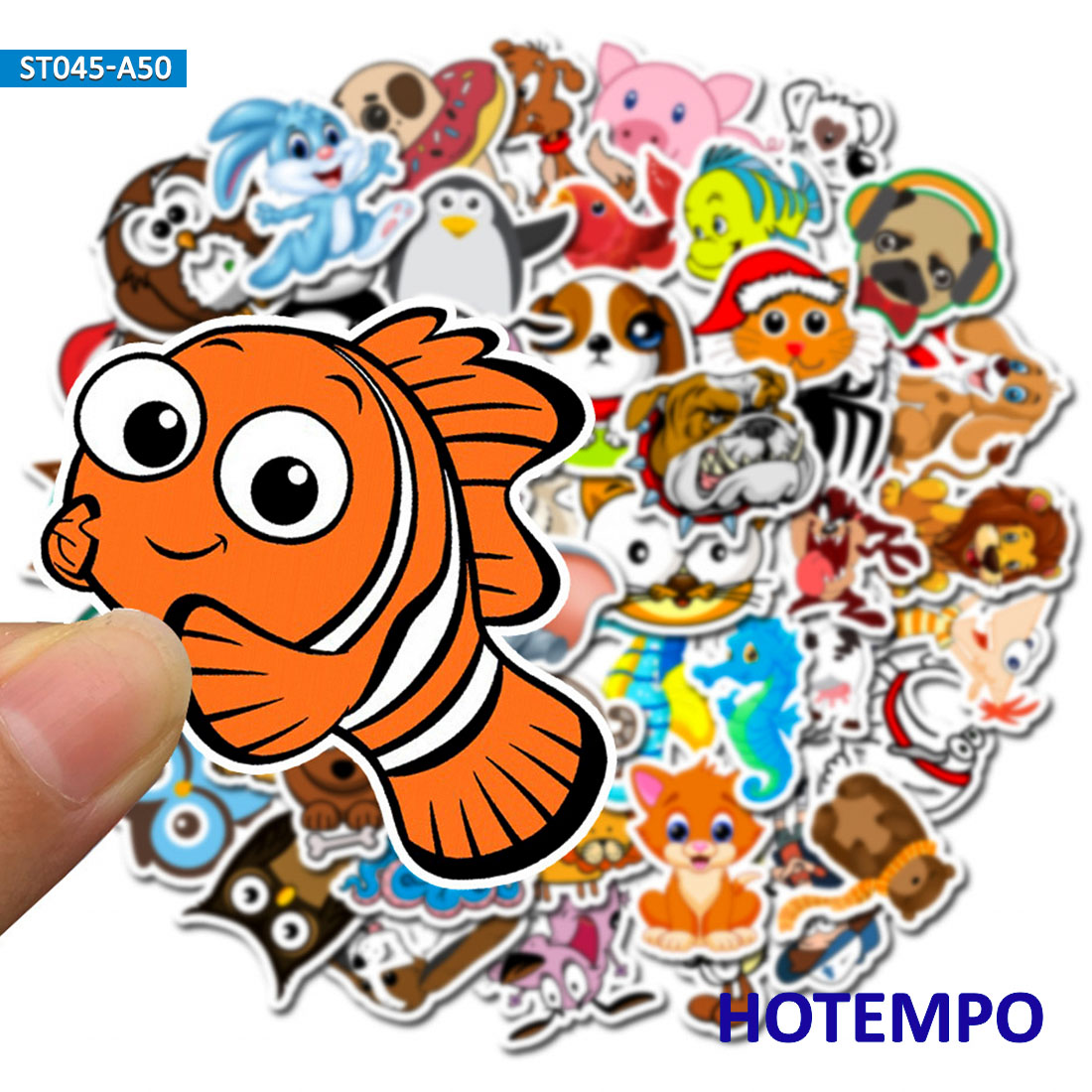 50pcs Cartoon Cute Animal Stickers For Kids Girl Children Teacher School Gift DIY Letter Diary Scrapbooking Stickers