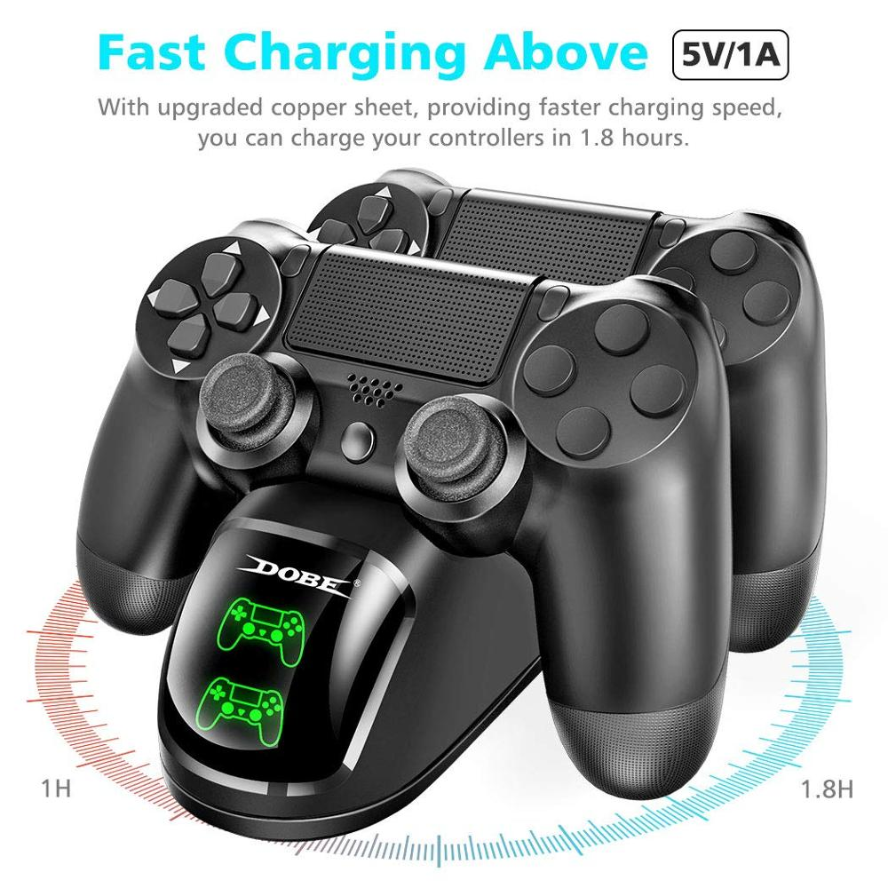 Dual USB Handle Fast Charging Dock Station Stand Charger for PS4/PS4 Slim/PS4 Pro Game Controller Joypad Joystick 2