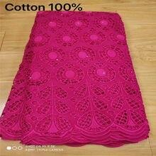 2.5 quintal tecido de renda suíço 2020 mais recente pesado frisado bordado africano 100% algodão tecidos swiss voile rendas popular dubai estilo