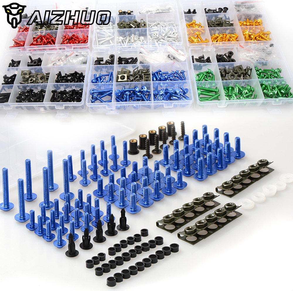 Motorcycle Fairing Bolts Screws <font><b>Body</b></font> Spring Bolts <font><b>Kit</b></font> For <font><b>YAMAHA</b></font> YZF R1 <font><b>R6</b></font> R3 YZFR1 YZFR6 XJR1200 XJR1300 FJR1300 SR400 XVS400 image