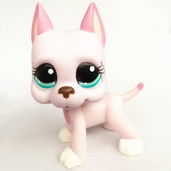 Rare LPS Pet Shop Mini Toys Set Short Hair Cat Great Dane Collie Dog PVC Action Figure Toys Dolls Model Kids Gifts Toys for Girl new pet genuine original lps no deep brown white collie dog toys