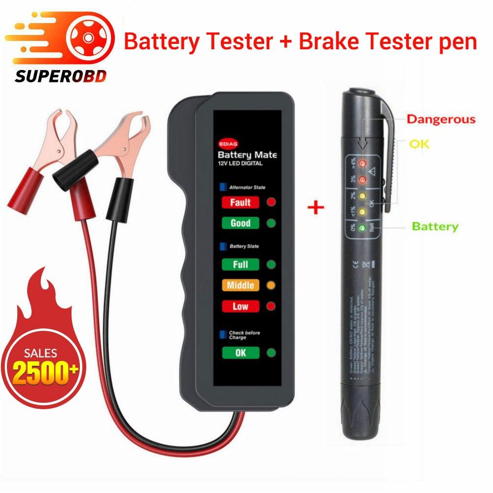 Qualidade do óleo preciso caneta de verificação universal testador fluido freio carro testador bateria veículo ferramenta teste automotivo