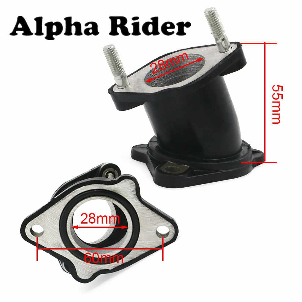 1 unidad adaptador de interfaz de carburador colector de goma de admisión para Honda ATC200/M/S ATC Big Red 200 ATC200E XR200 XR200R