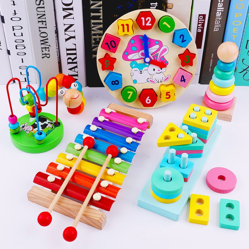 CHILDREN'S Toy 6-12 Month Women's Building Blocks Bead-stringing Toy Beaded Bracelet Infant Educational Force Baby 10-30 Yuan 3