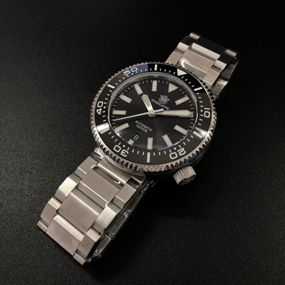 2019 New Fashion Watch Stainless Steel Diver Watch 1000M Water Resistant sapphire glass ceramic bezel blue luminous(China)
