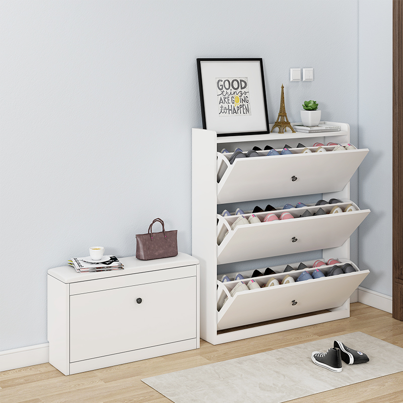 Multi-function Storage Porch Locker Door Household Large Capacity Shoe Rack Dumping Shoe Cabinet Simple Modern Hall Cabinet