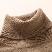Women 100% Pure Goat Cashmere Knitting Pullovers 20Colors Turtleneck Soft Warm Sweater Top Grade Standard Clothes Ladies Tops
