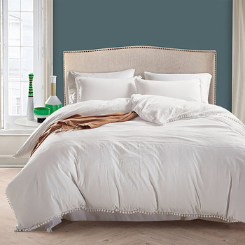 3pcs Hotel Bedding Set Queen/King Size White Color Embroidered Duvet Cover Sets Hotel Bed Linen Set Bedding Pillowcase