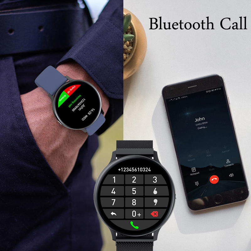 Смарт-часы для мужчин и женщин, фитнес-браслет с поддержкой Bluetooth, с сенсорным экраном 3
