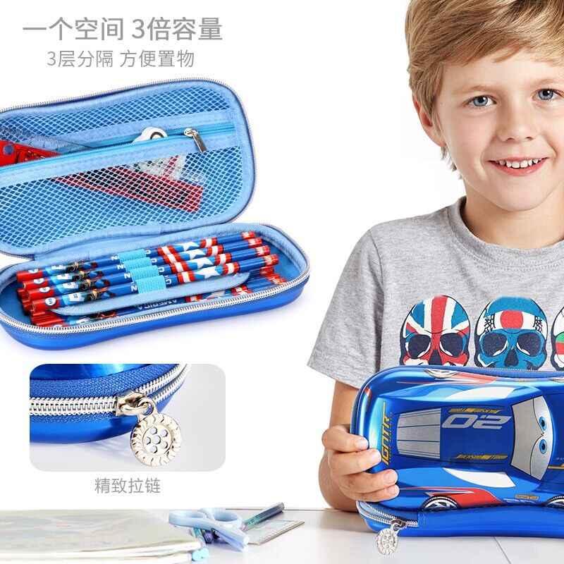 Genuine Da Disney Relâmpago McQueen carro papelaria Estudante caixa de lápis para as crianças da escola suprimentos caçoa o presente toy do Presente de Aniversário