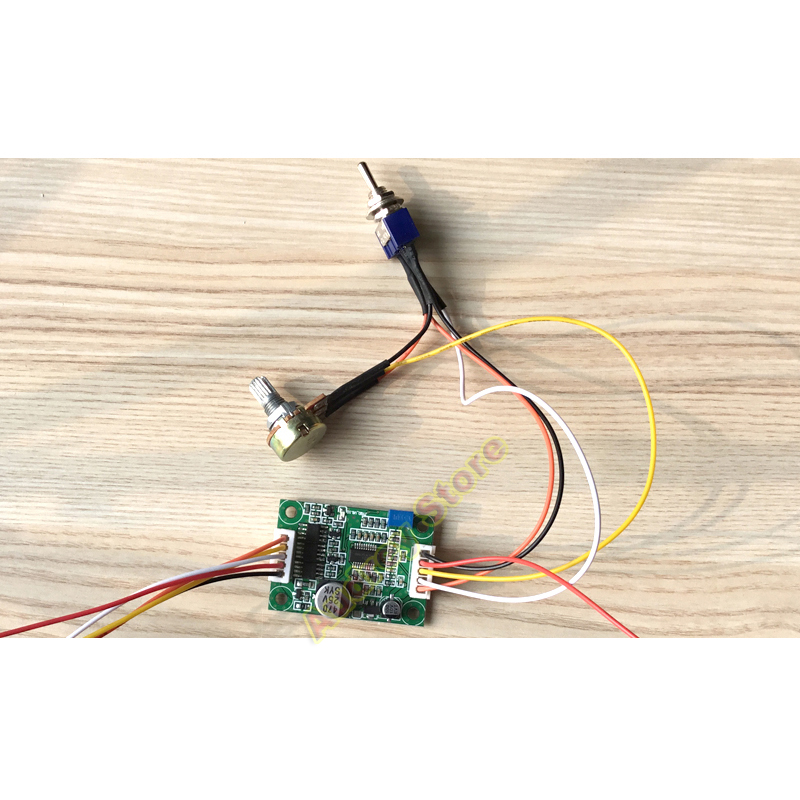 36W 3A 12V DC brushless no hall 3 phase micro motor fan built-in driver control board