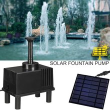 180L/H Solar Fountain Pump Kit Free Standing 1.5W Solar Panel Water Pump for Garden and Patio with Sponge Filter Drop shipping цена