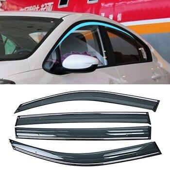For KIA Cerato K3 2013-2019 Car Window Sun Rain Shade Visors Shield Shelter Protector Cover Frame Sticker Exterior Accessories