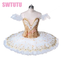 girls beige sleeping beauty professional classical ballet tutu adult flower fairy  white stage costumes BT8971