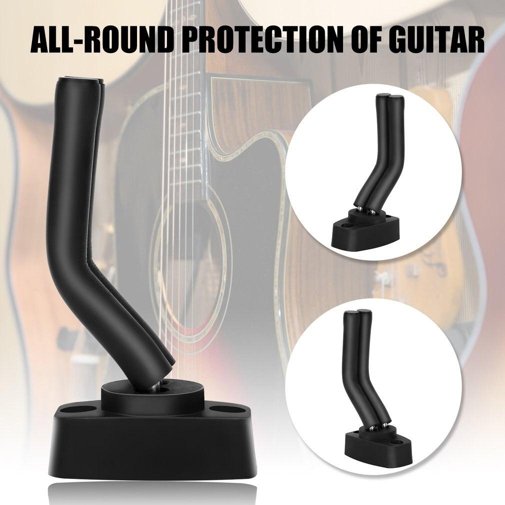 Drop Shipping Wall Mount Guitar Hanger Hook Non-slip Holder Electric Acoustic Guitars Bass Ukulele String Instrument
