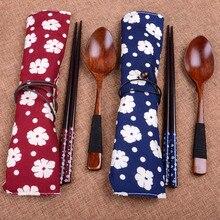 Alta calidad japonés Vintage palillos de madera cuchara vajilla creativa 2 uds juego de regalo cocina restaurante Mesa hogar herramientas