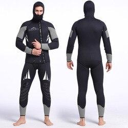Traje de neopreno profesional sjart de 5mm para pesca submarina, equipo para nadar submarinismo, traje de buceo para hombres, traje húmedo K