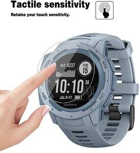 Image 2 - 9H Premium Gehärtetem Glas Für Garmin Instinct Flut GPS Smartwatch Screen Protector Explosion Proof Film Zubehör