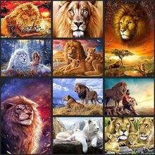 Zooya 5d алмазная вышивка в виде Львов крестиком сделай сам
