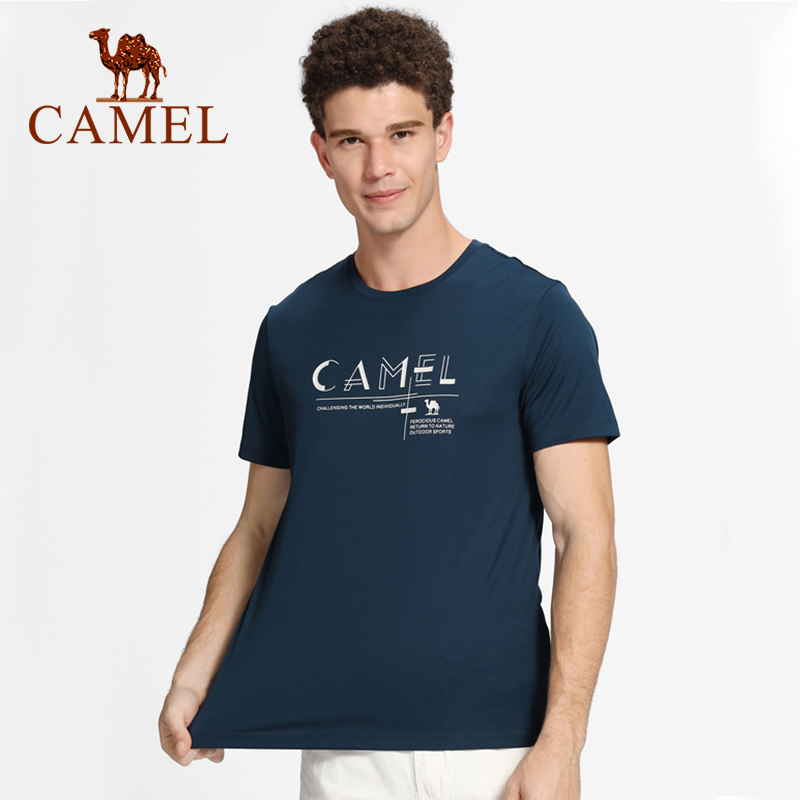 CAMEL Man Outdoor Hiking T-shirt Men's T-shirt Women's T-shirt New Fashion Breathable Quick-drying Casual Short-sleeved Shirts