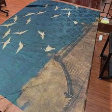 Шелковая ткань одежды кран рисунок Ретро широкие xiangyun пряжи