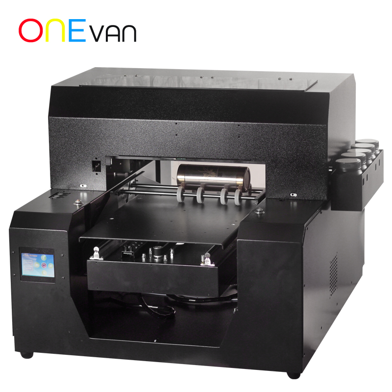 Automatic A3 UV Printer Bottle Printer Print White Color At One Time Phone Case A3 Uv Printer For Cylinder Printing Machine