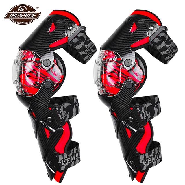Vermelho da motocicleta joelheiras motocross joelho guarda proteção da motocicleta motocross equipamentos quatro temporada de corrida guardas engrenagens segurança
