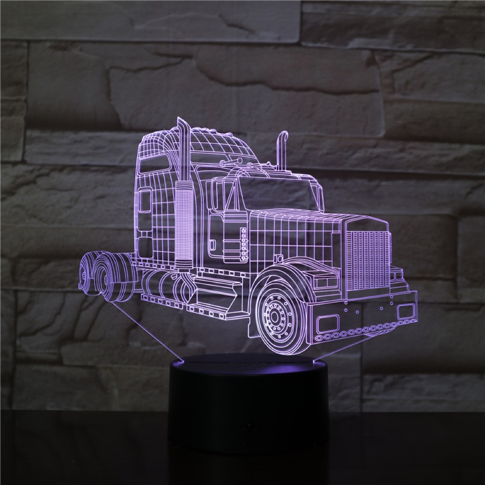 3D Lamp The Truck Head Battery Powered Color Changing With Remote Best Decoration For Room Awesome Gift Led Night Light Lamp