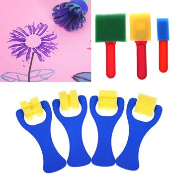 Szkolne artykuły biurowe plastikowy uchwyt rysowanie zabawek piankowy wałek malarski szczotki rysunek artystyczny szczotki z gąbki tanie i dobre opinie CN (pochodzenie) Other Z tworzywa sztucznego
