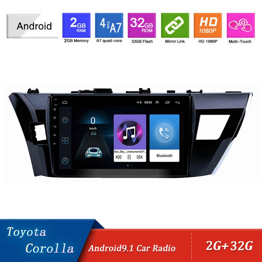 "10.1 ""2Din Android 9.1 Auto Radio Multimedia Video Audio Player Voor Toyota Corolla 2013 2014 2015 Auto Auto Stereo navigatie Gps"