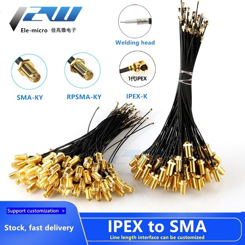5 adet SMA konnektör kablosu dişi uFL/u.FL/IPX/IPEX UFL SMA dişi RG1.13 anten RF kablo tertibatı RP-SMA-K