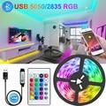 WI-FI Bluetooth USB светодиодные ленты светильник s RGB 5050/2835 светодиодный светильник ing лампа светильник с помощью приложения на телефоне Управление ...