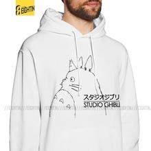 Bluzy z kapturem męskie mój sąsiad Totoro studio ghibli Totoro bawełna najnowsza stylowa bluza z kapturem koszula z kapturem tanie tanio OSIEM-W O Pełna REGULAR Na co dzień STANDARD NONE Brak Drukuj COTTON Black Gray White Free Shipping Dropshipping