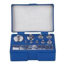 17 pces 10mg-100g gramas de precisão balança digital calibração peso conjunto teste escala jóias pinça equilíbrio ferramentas de ponderação prata