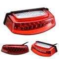 Универсальный 1 шт. 12 в 21 светодиодный белый светильник для номерного знака мотоцикла красный задний фонарь стоп-сигнал 3 провода