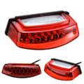 Universal 1pc 12V 21 LED Motorcycle White License Plate Light Red Tail Rear Lights Brake Stop Lamp 3 Wire